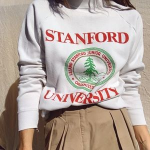 Vintage Stanford oversized distressed sweatshirt